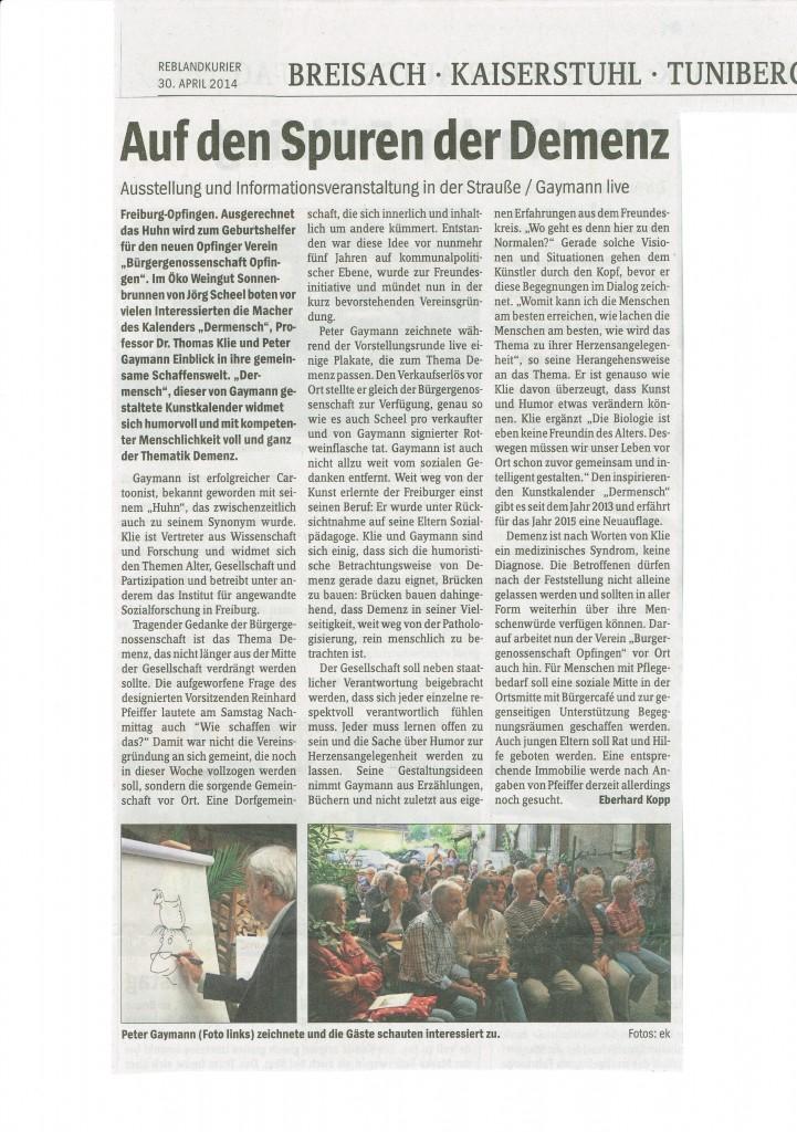 Signierstunde Gaymann in Sonnenbrunnenstrausse Freiburg